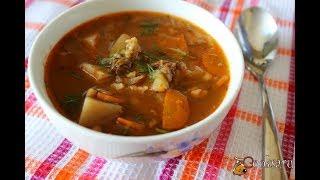 Ароматный мясной суп с рисом
