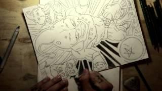 Drawing Ideas: Dragon Ball Z; Majin Buu, Bluddy Pencil Style