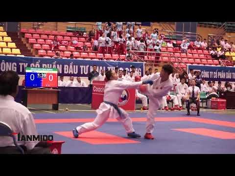 SENIOR MALE TEAM KUMITE  - AKA. VIETNAM - AO. CAMBODIA -  The 7th SEAKF Karate Championship 2018