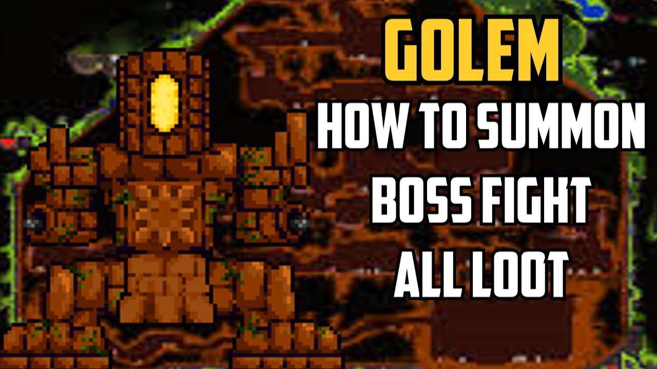 Terraria Golem How To Summon Boss Fight All Loot Youtube The complete guide to golem in terraria! terraria golem how to summon boss fight all loot