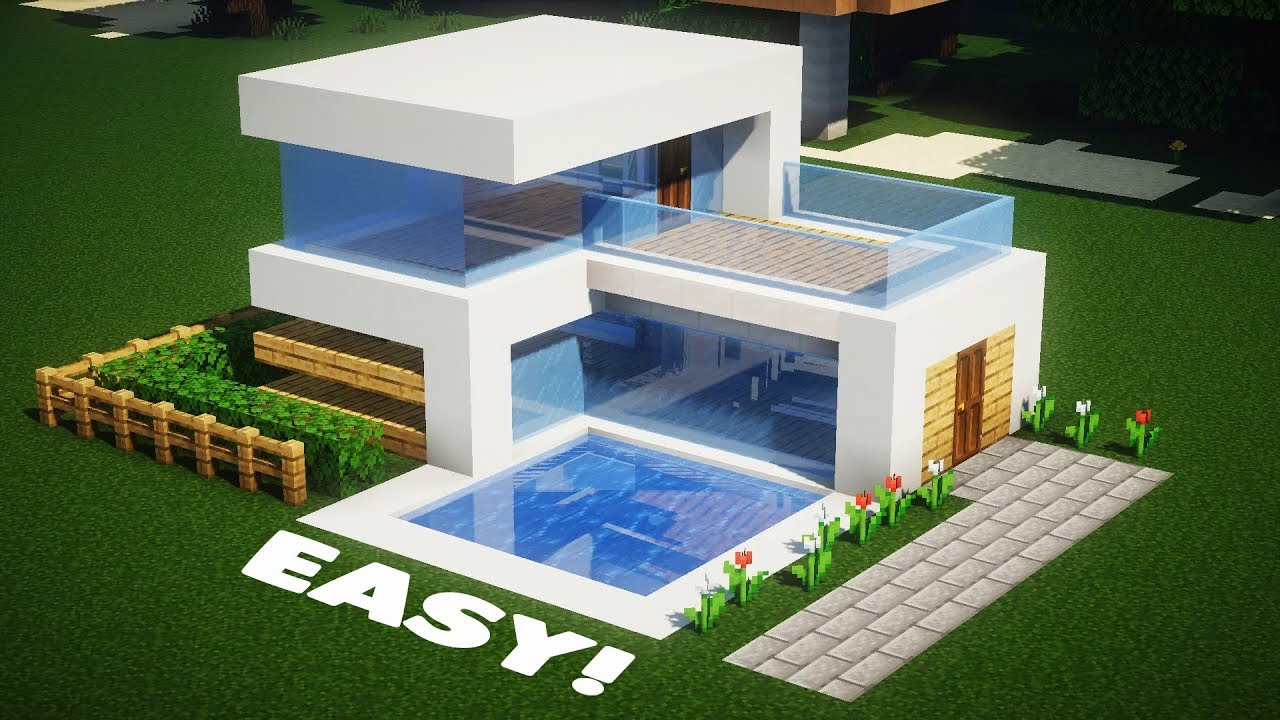Small Modern House In Minecraft Youtube