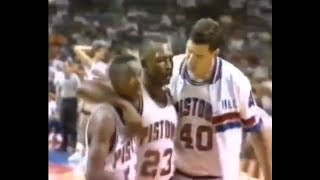 The Pistons' Bad Boys Era Comes to a Close, the Gang Walks Out on Chicago (1991)