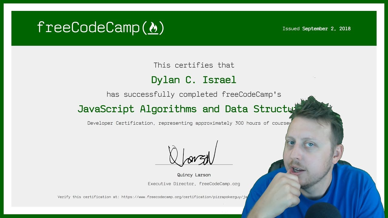 Javascript Algorithms And Data Structures Certification Review Freecodecamp Certification Youtube