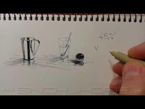Как рисовать линерами фактуры