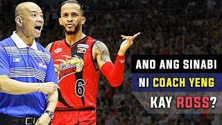 Ano ang Tunay na Sinabi ni Coach Yeng kay Ross?   Grabe si Coach
