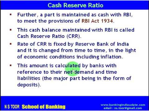 CRR - Cash Reserve Ratio