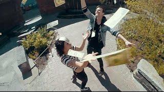 matt and kim   lets run away   official music video
