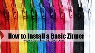 How to Install a Basic Zipper Thumbnail