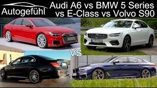 Audi A6 vs BMW 5-Series vs Mercedes E-Class vs Volvo S90 Comparison
