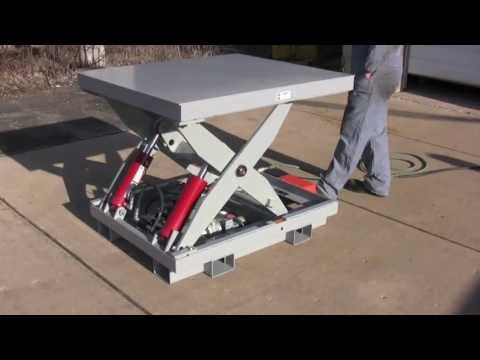 Custom 3,000 Pound Capacity Scissors Lift - Lange Lift Serial #31207-08