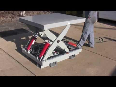 Custom 3,000 Pound Capacity Scissors Lift - Lange Lift Serial #31207-08