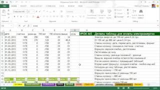 Обучение Excel 2013/Урок№5/Делаем таблицы