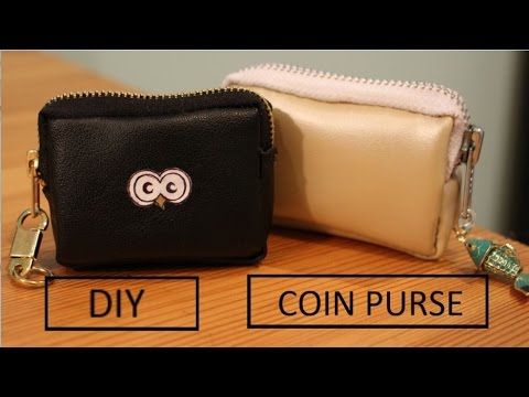 DIY Faux Leather Coin Purse