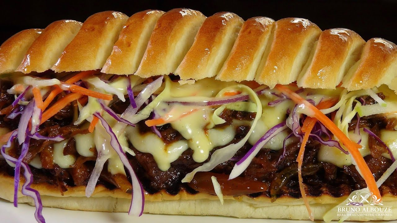 Pulled pork sandwich bruno albouze the real deal youtube forumfinder Choice Image