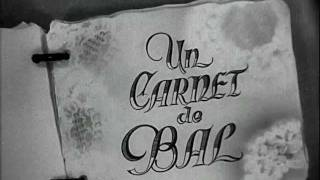 Un carnet de bal (1937) title sequence
