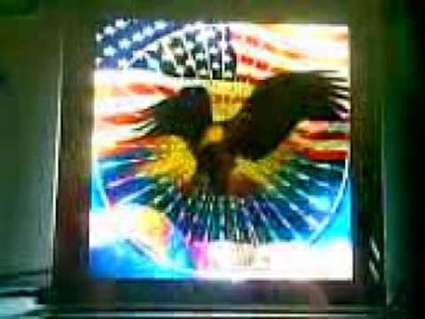 American Flag With Eagle Motion Color Picture