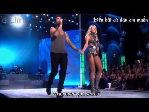 [vietsub-  lyrics] Moves Like Jagger  Maroon 5 (The Victoria Secrets Fashion Show)