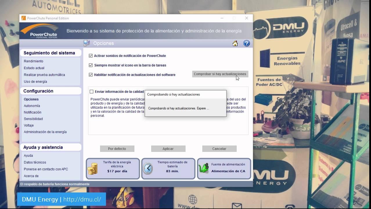Software PowerChute para el control y monitoreo de equipos UPS APC - DMU  Energy | Chile