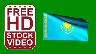 Free Stock Videos – Kazakhstan Flag Waving On Green Screen 3D Animation
