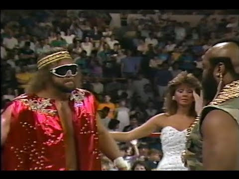 Macho Man Randy Savage And Mr. T Face-Off (06-28-1987)