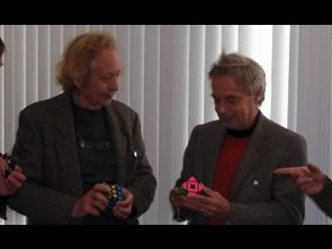 Erno Rubik + Meffert + Sebesteny at DCD 2009 (puzzles)