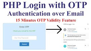PHP Login with OTP Authentication over Email | 15 Minutes OTP Validity Feature 🔥🔥