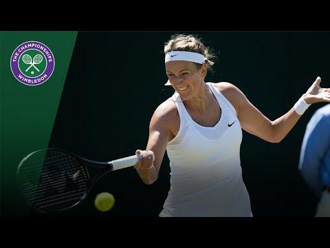 Victoria Azarenka v Elena Vesnina highlights - Wimbledon 2017 second round