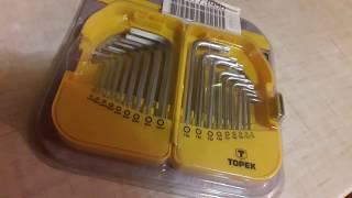 Распаковка Ключи шестигранные TOPEX HEX и Torx 18 шт из Rozetka.com.ua #мояраспаковка  #розетка