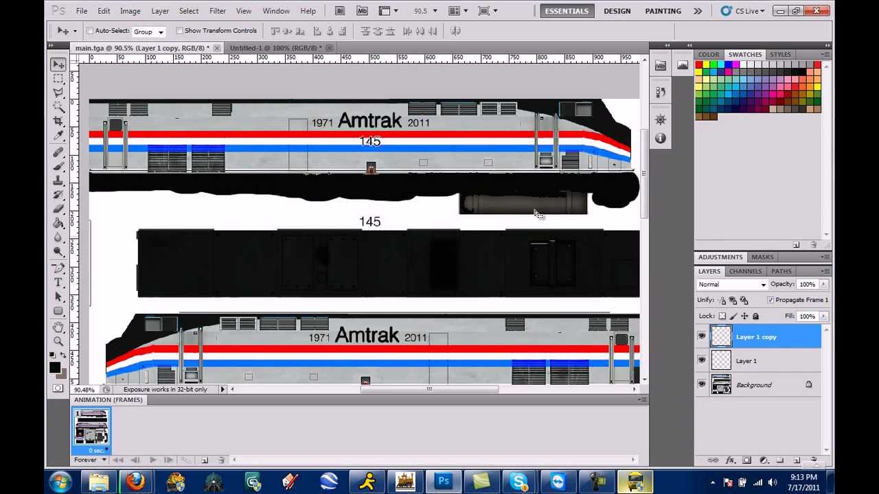 Trainz Repaint At 10x Speed Amtrak Heritage Unit 145