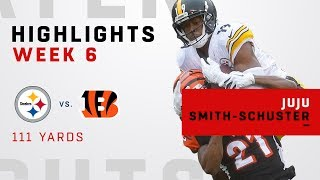 Check out player highlights from JuJu Smith-Schuster during Week 6....