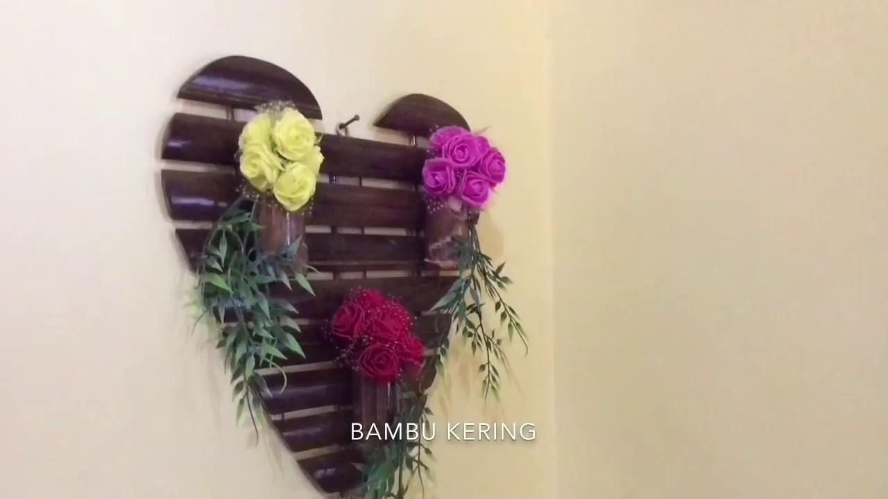 Cara Mudah Membuat Hiasan Dinding Vas Bunga Dari Bambu Youtube