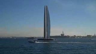 bmw oracle with new rig sailing in san diego nov 10th