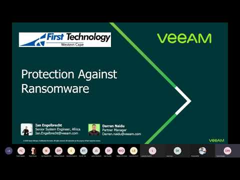 Veeam Protection Against Ransomware webinar - 6th October 2020