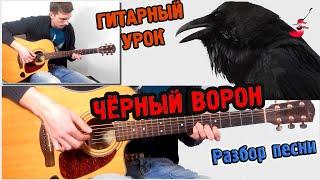 Чёрный Ворон РАЗБОР, АККОРДЫ ♫ Урок игры на гитаре !!!