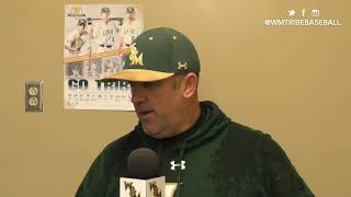 2019 W&M Baseball - Sacred Heart Post Game Interview (2/22/19