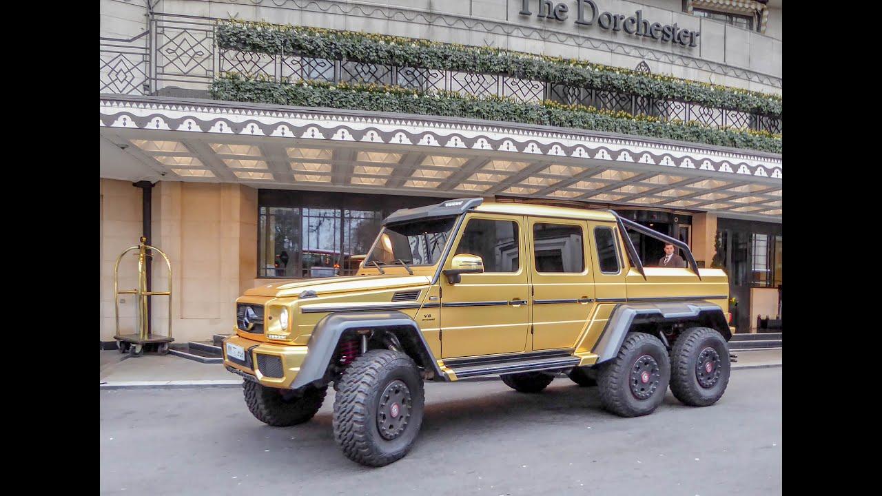 Amg G63 6x6 >> Turki Bin Abdullah Gold Mercedes G63 AMG 6x6 Gold The Dorchester Park Lane LondonSaudi Arabia ...