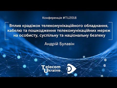 Telecom Ukraine 2018 | Вплив крадіжок телекомунікаційного обладнання на інформаційну безпеку