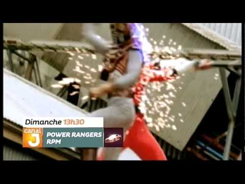 Power Rangers RPM - Promo - Canal J - Marathon - Dimanche à 13h30