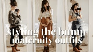 STYLING THE BUMP // A WEEK OF MATERNITY OUTFITS // WINTER EDITION