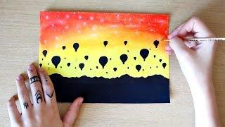 Watercolor Demonstration: Simple Glowy Sky Painting