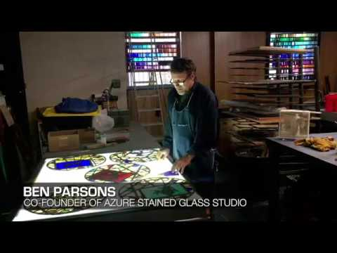 Ben Parsons, cofounder of Azure Stained Glass Studio, talks about his craft: Part 2