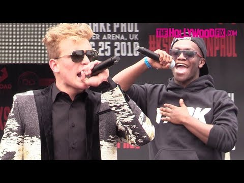 Jake Paul & Deji Square Off Face To Face At Their Boxing Match Press Conference 6.16.18