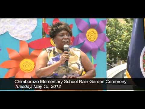 Chimborazo Elementary School Storm Water Rain Garden Ceremony