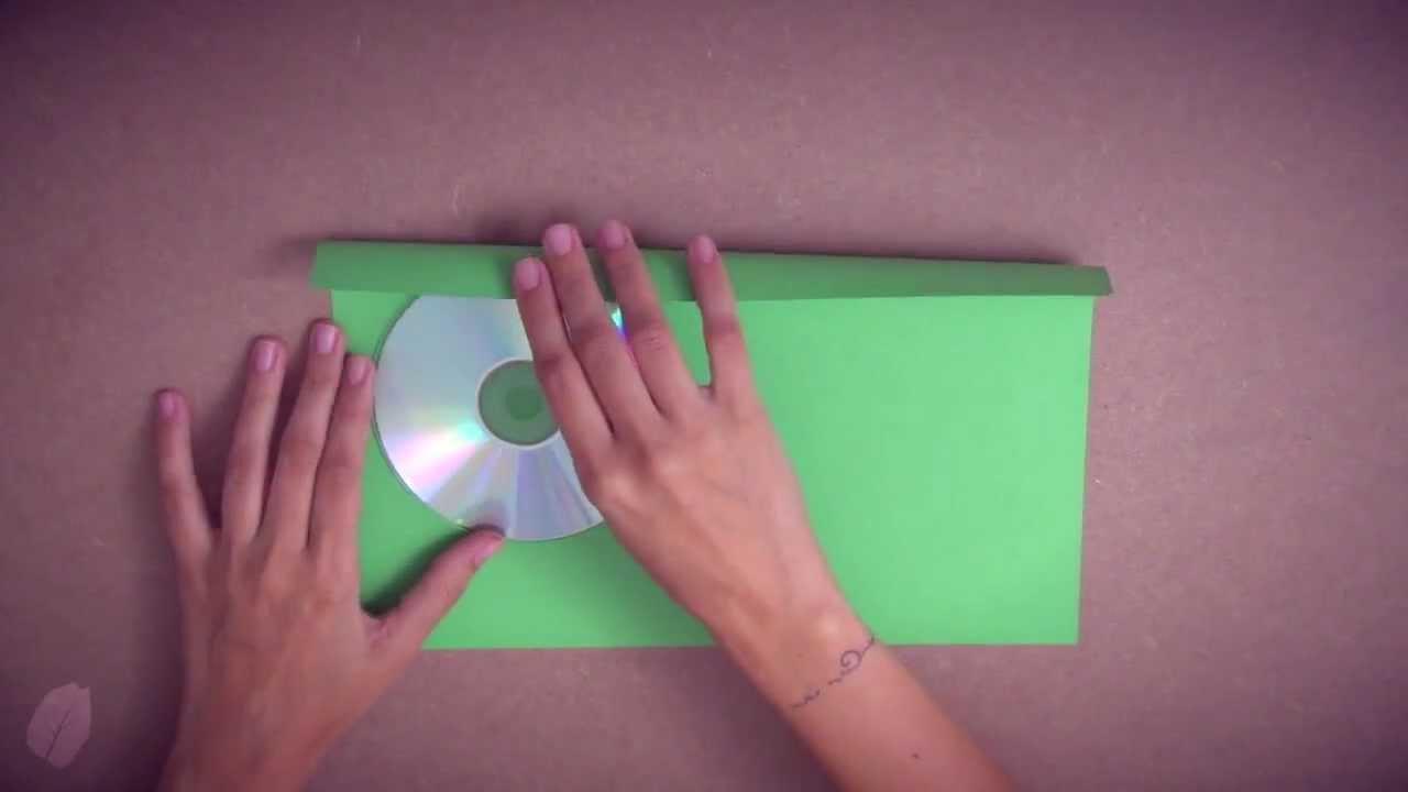 Como fazer um porta cd dvd com uma folha de a4 origami youtube