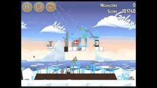 Angry Birds Chrome Seasons Greedings Level 1-5 3 Star Walkthrough