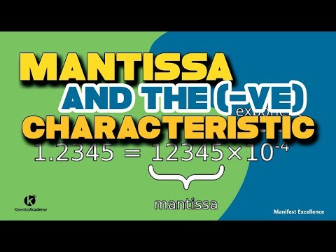 Mantisa and the negative characteristic of logarithm