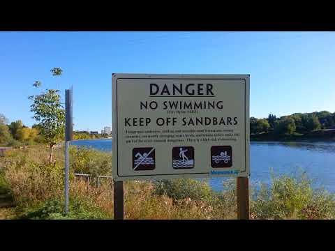 No Swimming ( South Saskatchewan River)