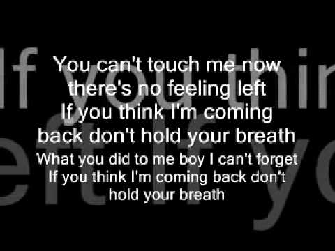 Nicole Scherzinger Dont Hold Your Breath Lyrics Youtube