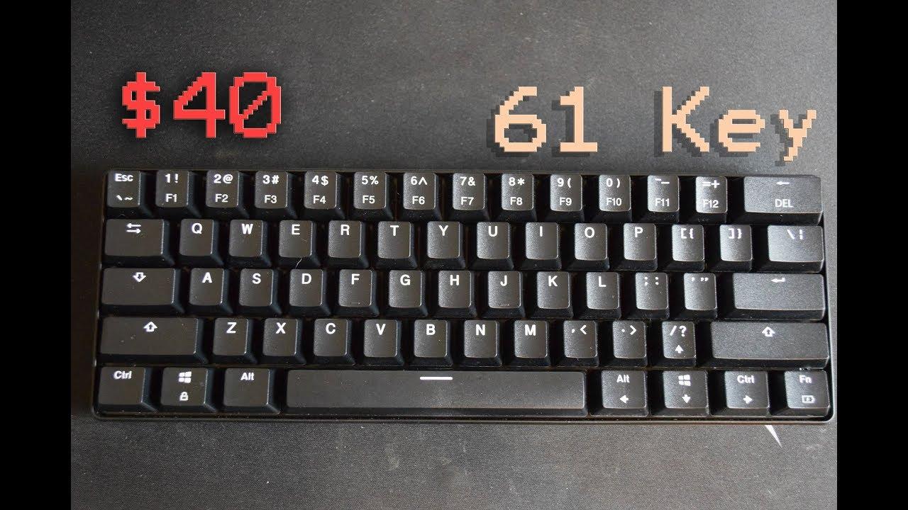 8e9cdd993e6 $40 Mechanical Keyboard! 61 Key Mini Keyboard by Toasty Bros