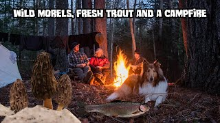 Wild Morels,  Fresh Trout and a Campfire - Spring Camping
